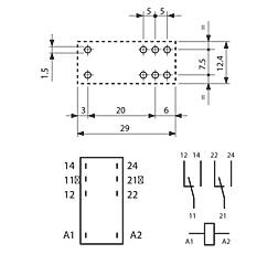 Schema relais monostable